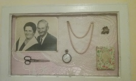 Shadow box of my grandparents